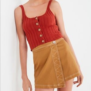 Urban Outfitters Asymmetrical Button Skirt